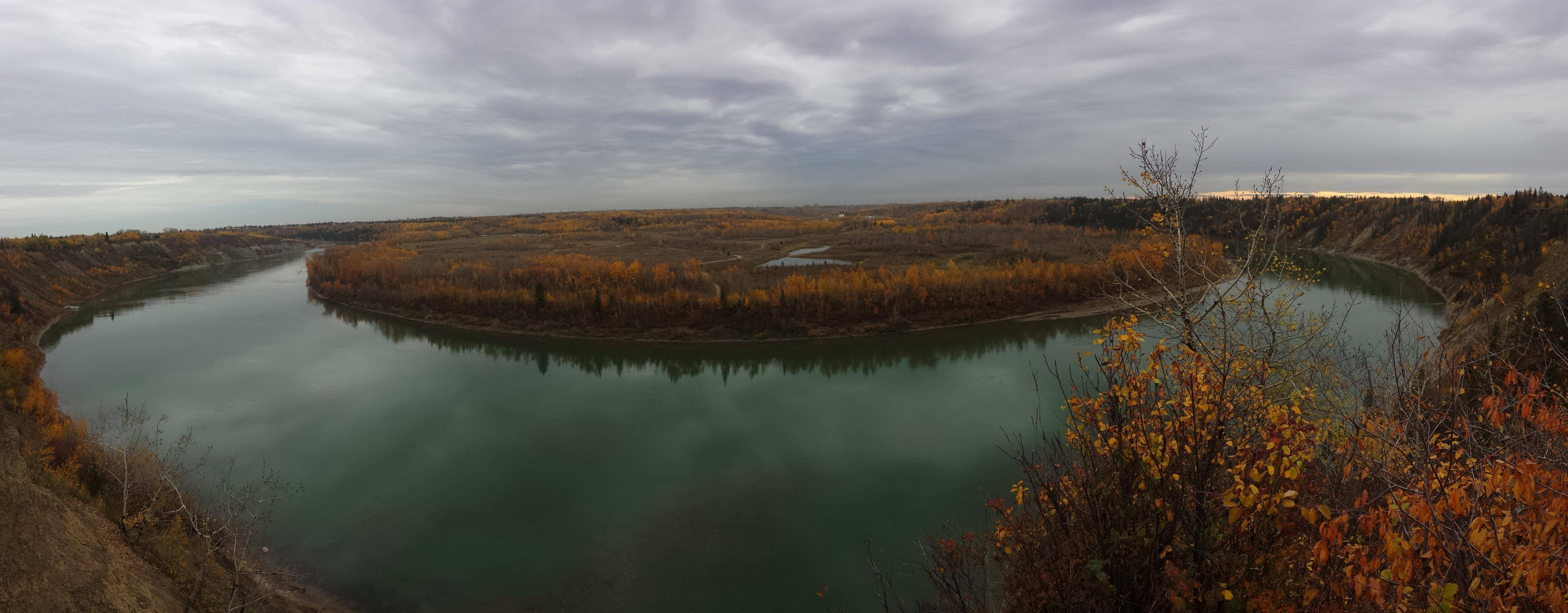Fall Wallpaper Hd For Galaxy S4 Panoramic View Of Edmontons River Valley This Fall 4k