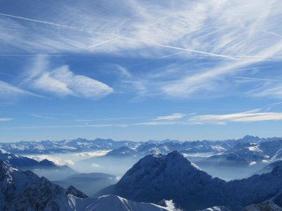 Top of Zugspitze Garmisch-Partenkirchen Germany HD wallpaper