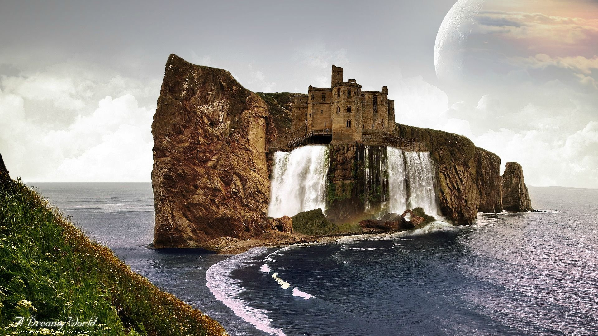 3d Live Wallpaper For Iphone 4s A Wonderful Castle With Wonderful Place To Live Hd Wallpaper