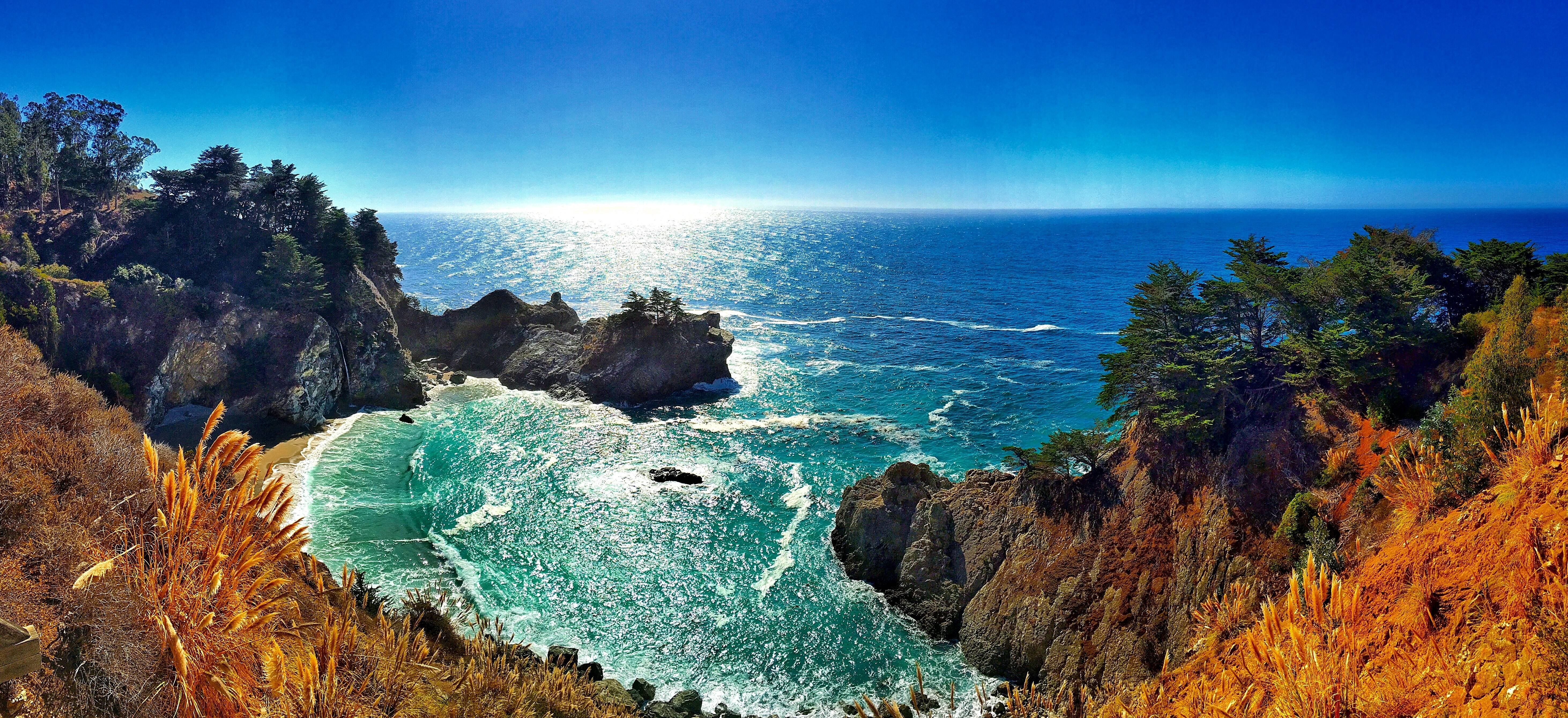 Numa Falls Wallpaper Mcway Falls Big Sur California 4k Wallpaper