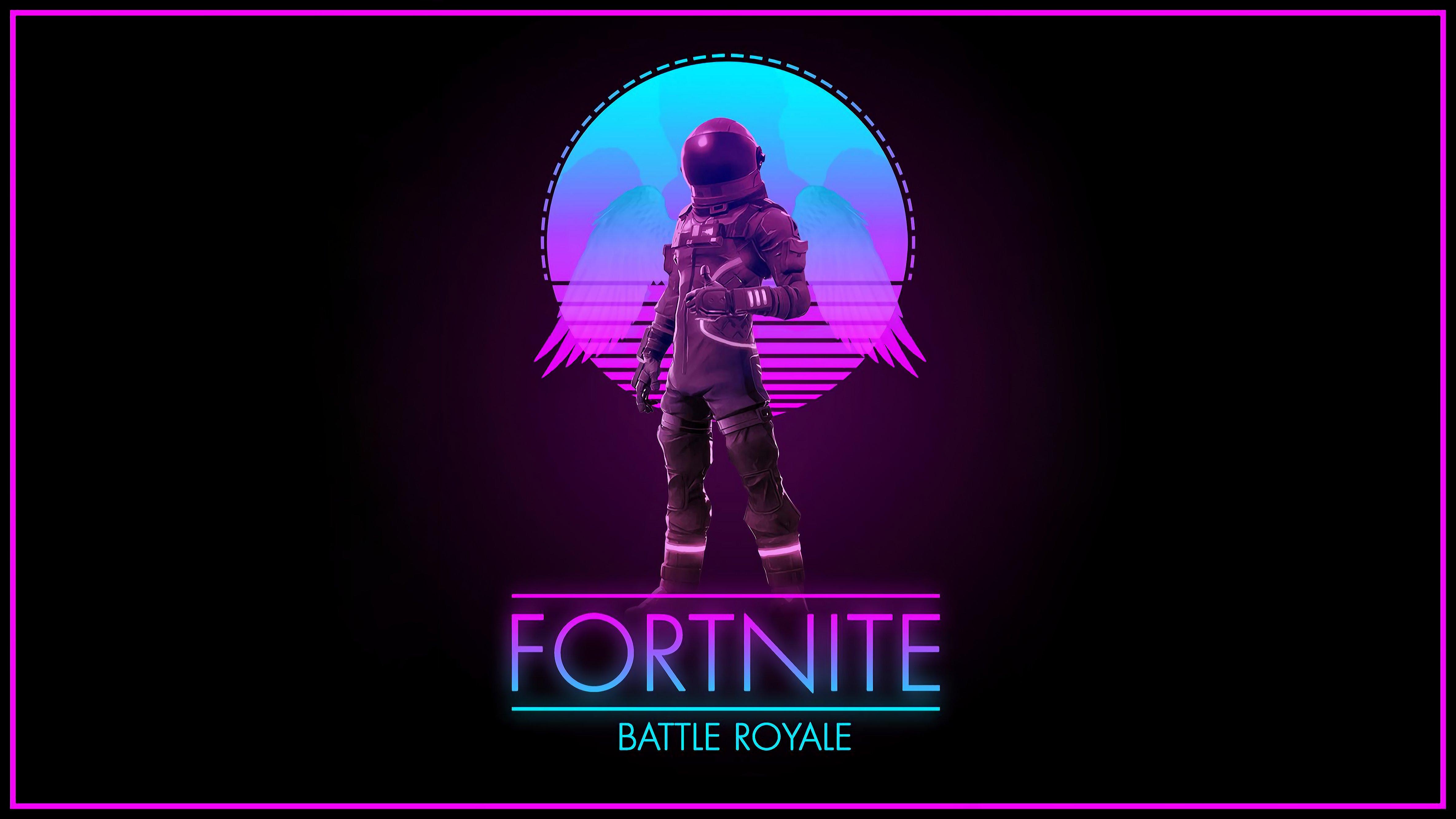 Fortnite Synthwave Royale 4k Wallpaper