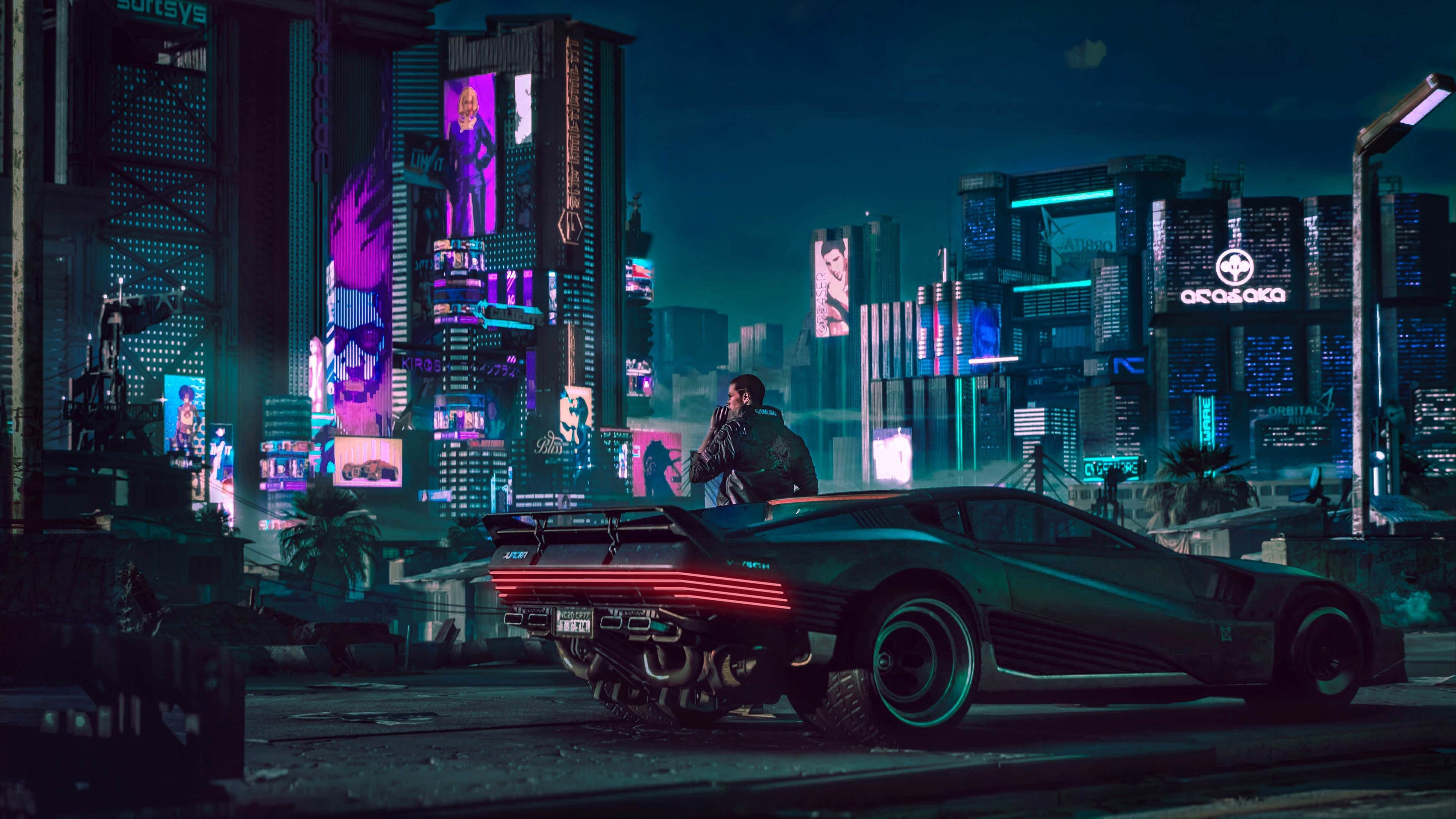 Retro Girl Wallpaper Hd Cyberpunk Car 4k Wallpaper
