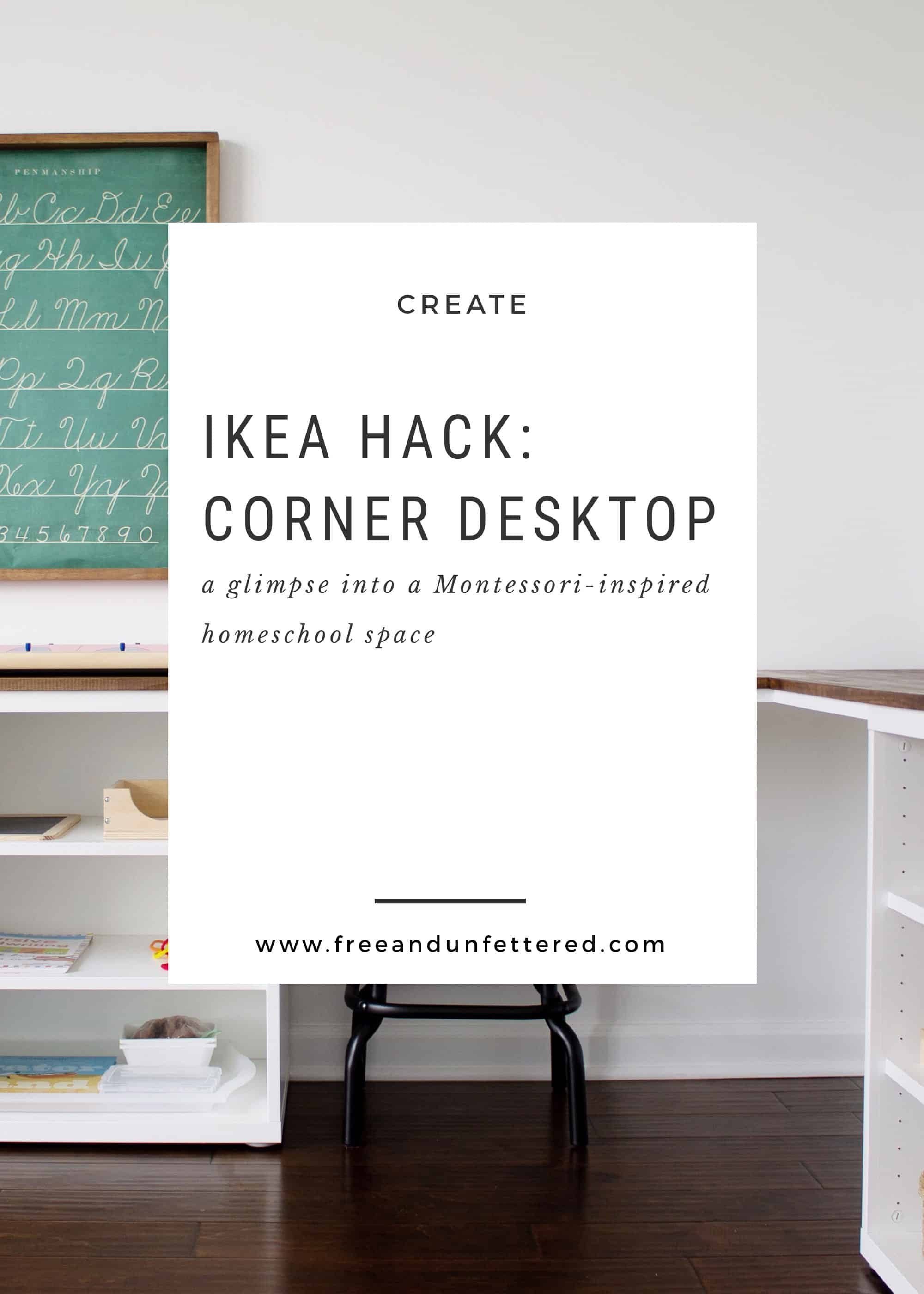 Ikea Desk Top Ikea Hack Create A Corner Desktop For Kids Using Besta Shelves