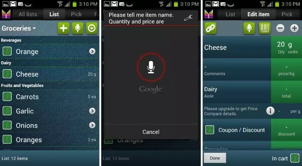 12 Best Grocery List App for Android Free apps for android, IOS - Shopping List And Prices
