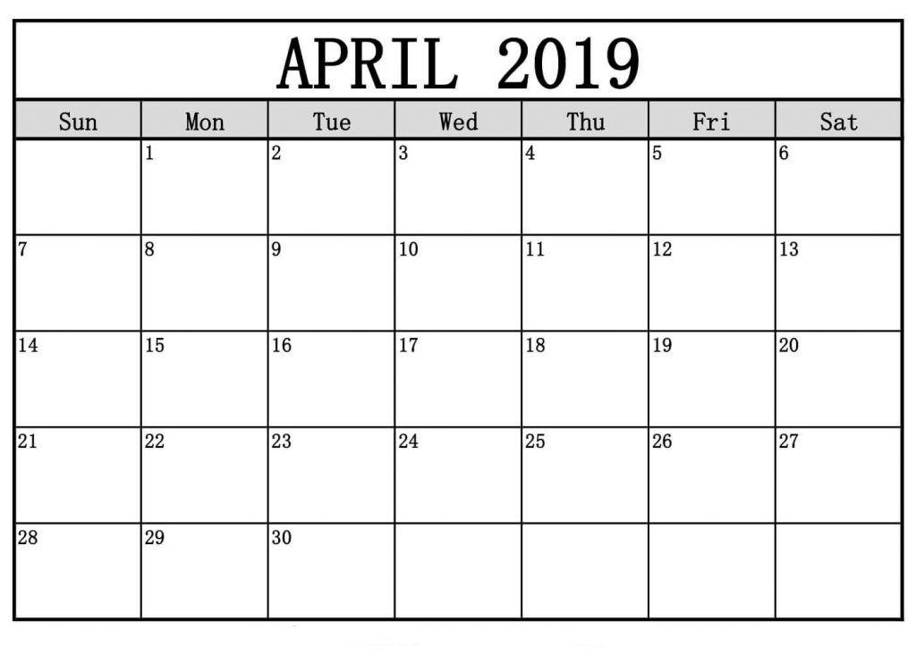 April 2019 Calendar Template Word - Free March 2019 Calendar