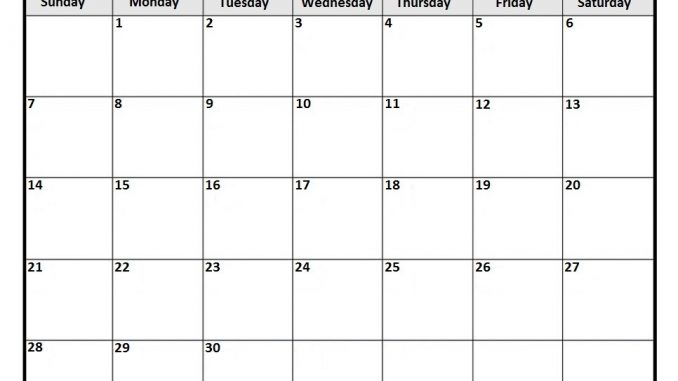 Free Printable April 2019 Calendar Template PDF, Word, Excel - calendar template