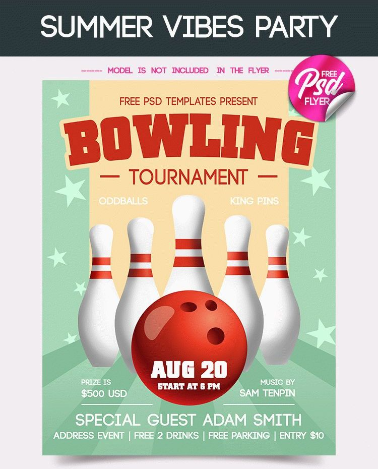 FREE BOWLING TOURNAMENT FLYER IN PSD - FreebieDesignnet
