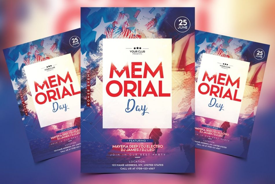 Memorial Day Free PSD Flyer Template FreebieDesignnet