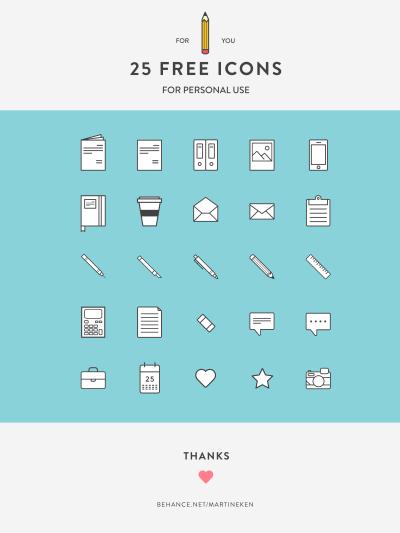 25 Free Icons