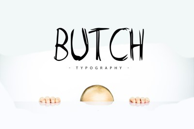 Butch Free Marker Typeface