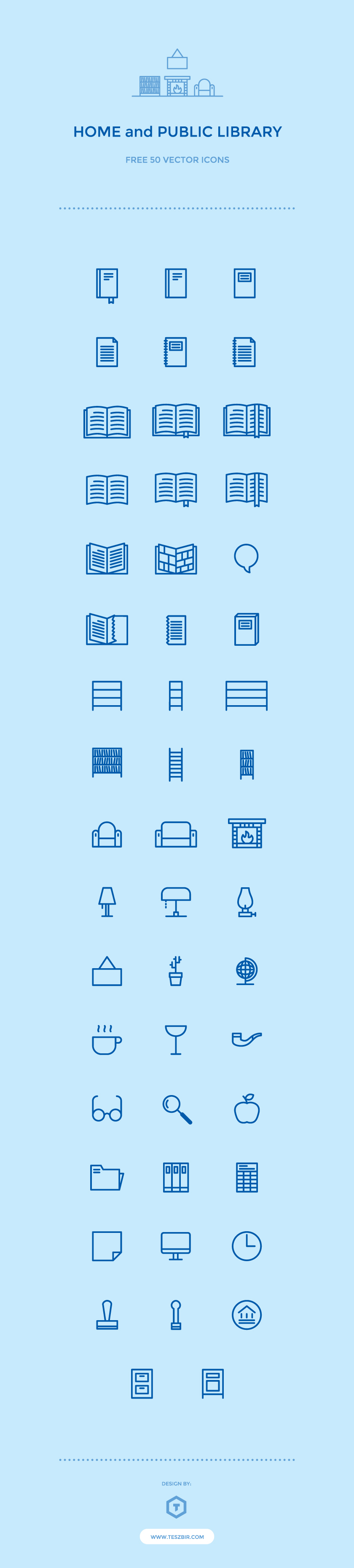 50 free public library icons