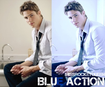 Free Blue Photoshop Action