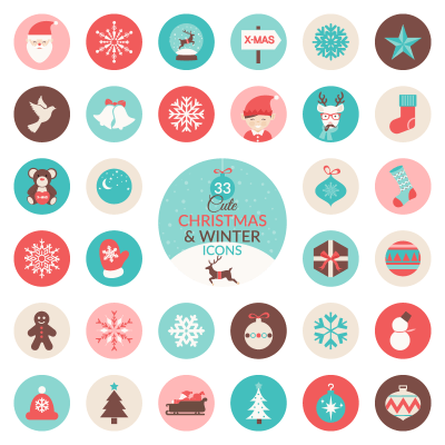 Free Christmas and Winter Icon Set