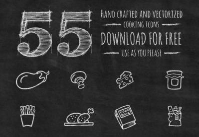 55 Hand Drawn Cooking Icons