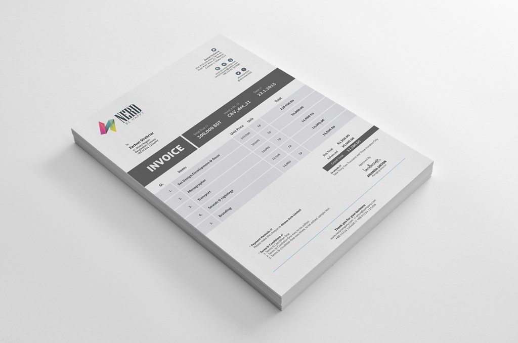 Invoice Template – Freebie