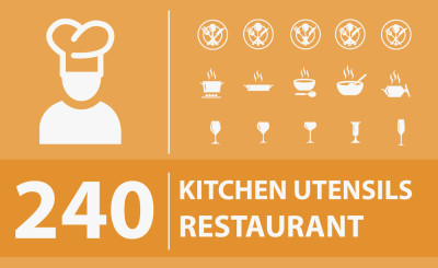 240 Free Kitchen and Restaurant Icons