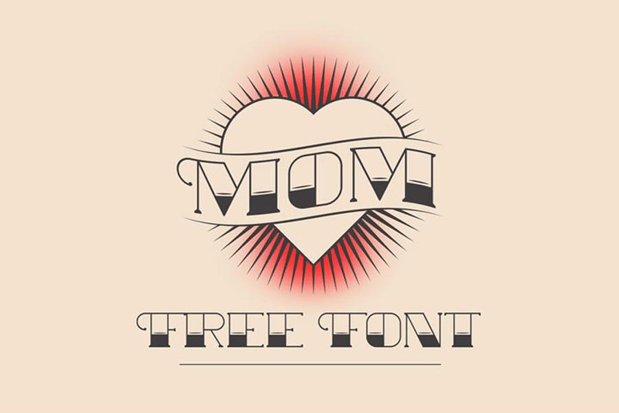 Free Mom Tattoo Font