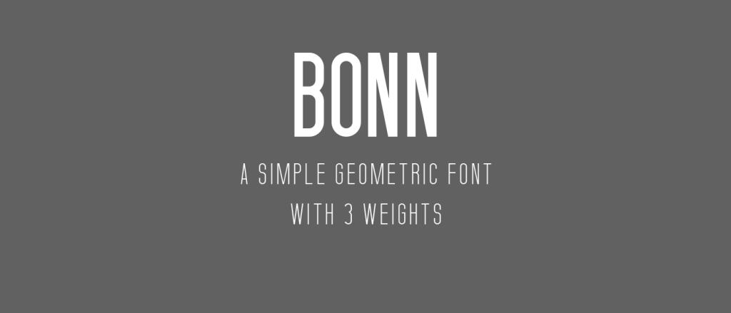 BONN – Free Typeface