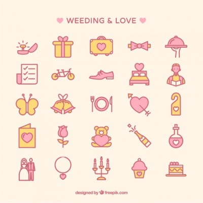Free Vector Wedding Icons Collection