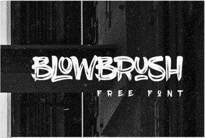 BlowBrush Free Font