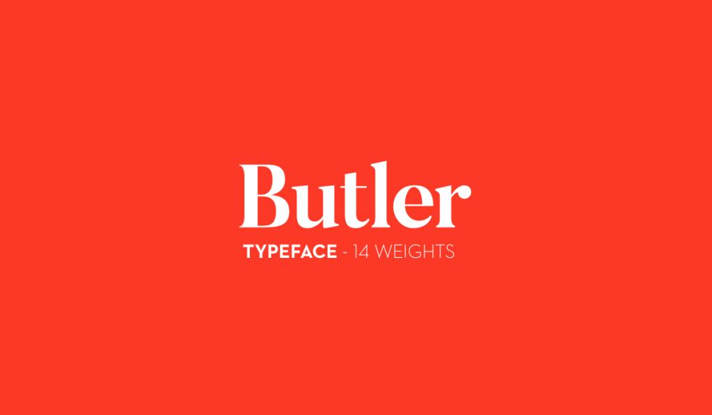Butler – Free Font