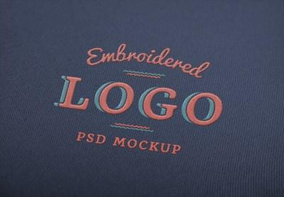 Free Embroidered Logo Mockup
