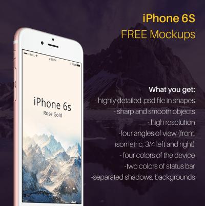 iPhone 6S Free Mockup