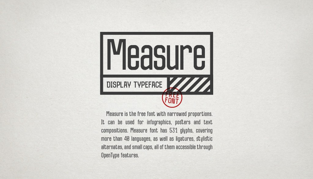 Measure Free Typeface