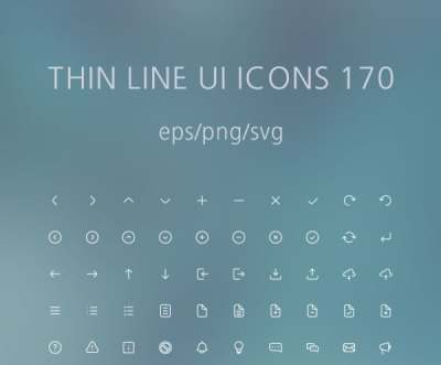 Free Thin Line UI 170 Icons