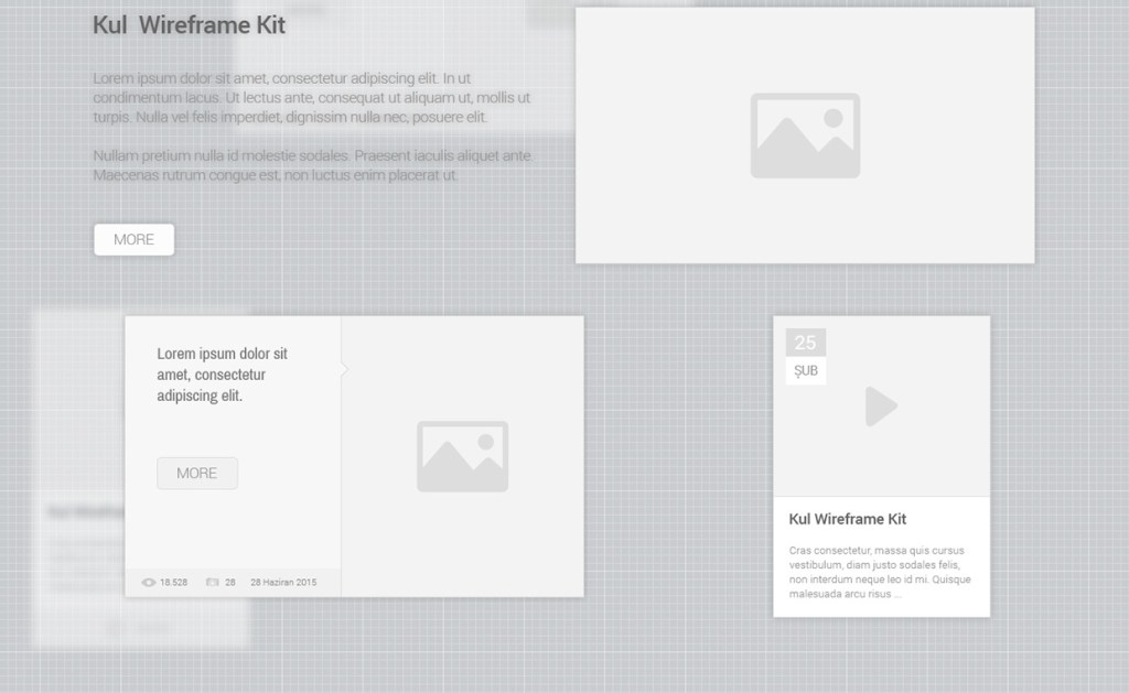 20 Elements Free KUL UI Wireframe Kit