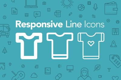 100 Responsive Line Icons