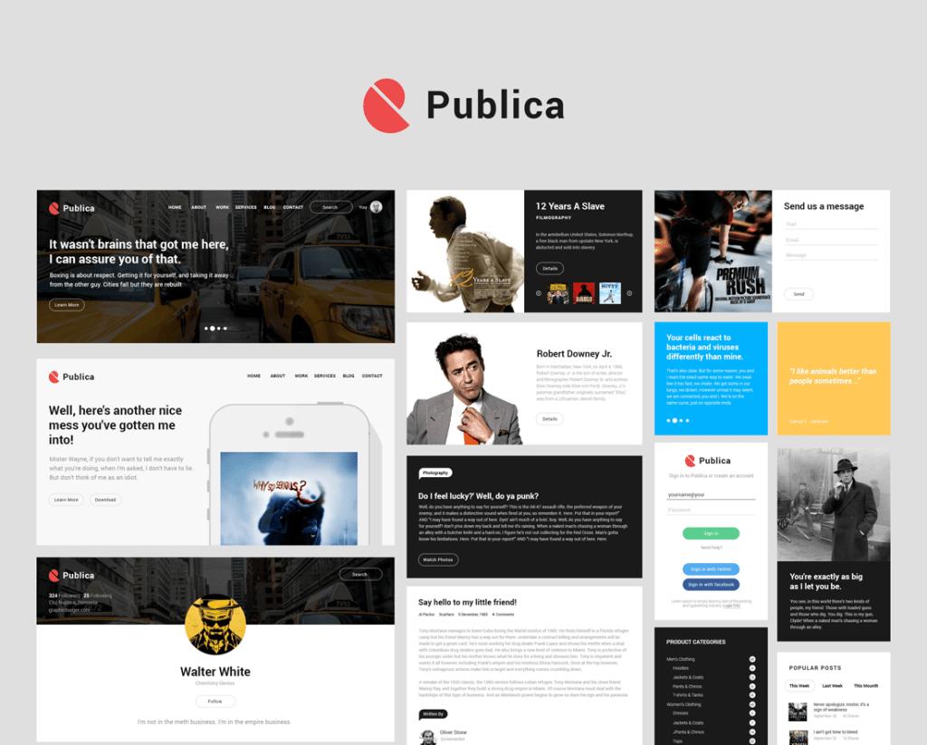 Free Publica UI Kit