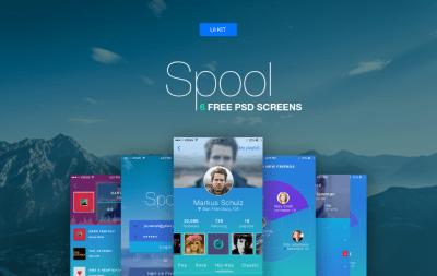 Spool: 6 Mobile UI Templates Freebie