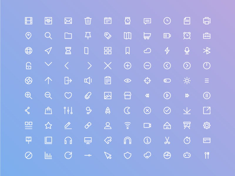 Free Basic Ui Icon Set