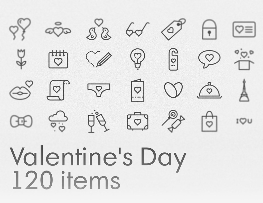 Free Valentine's Day Icons Set