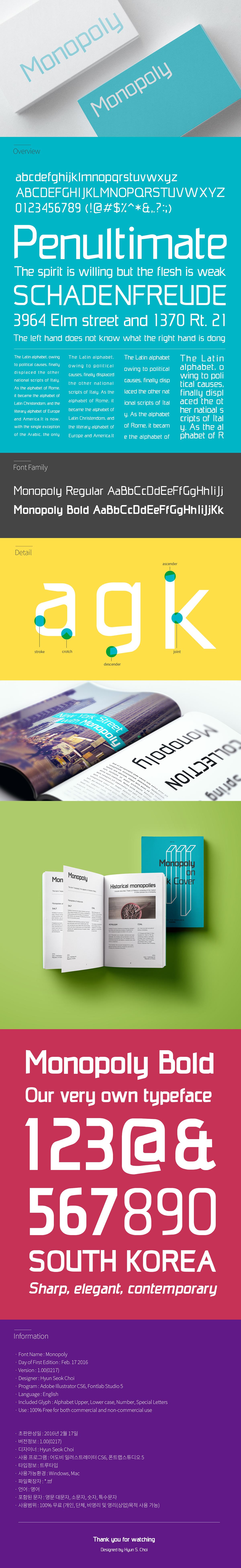 Monopoly Free Font Preview