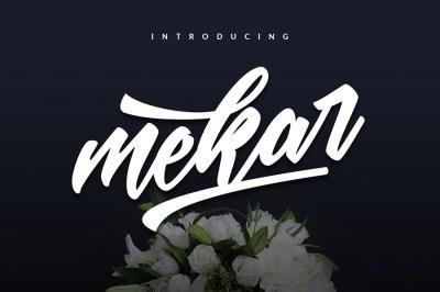 Mekar Free Script Font