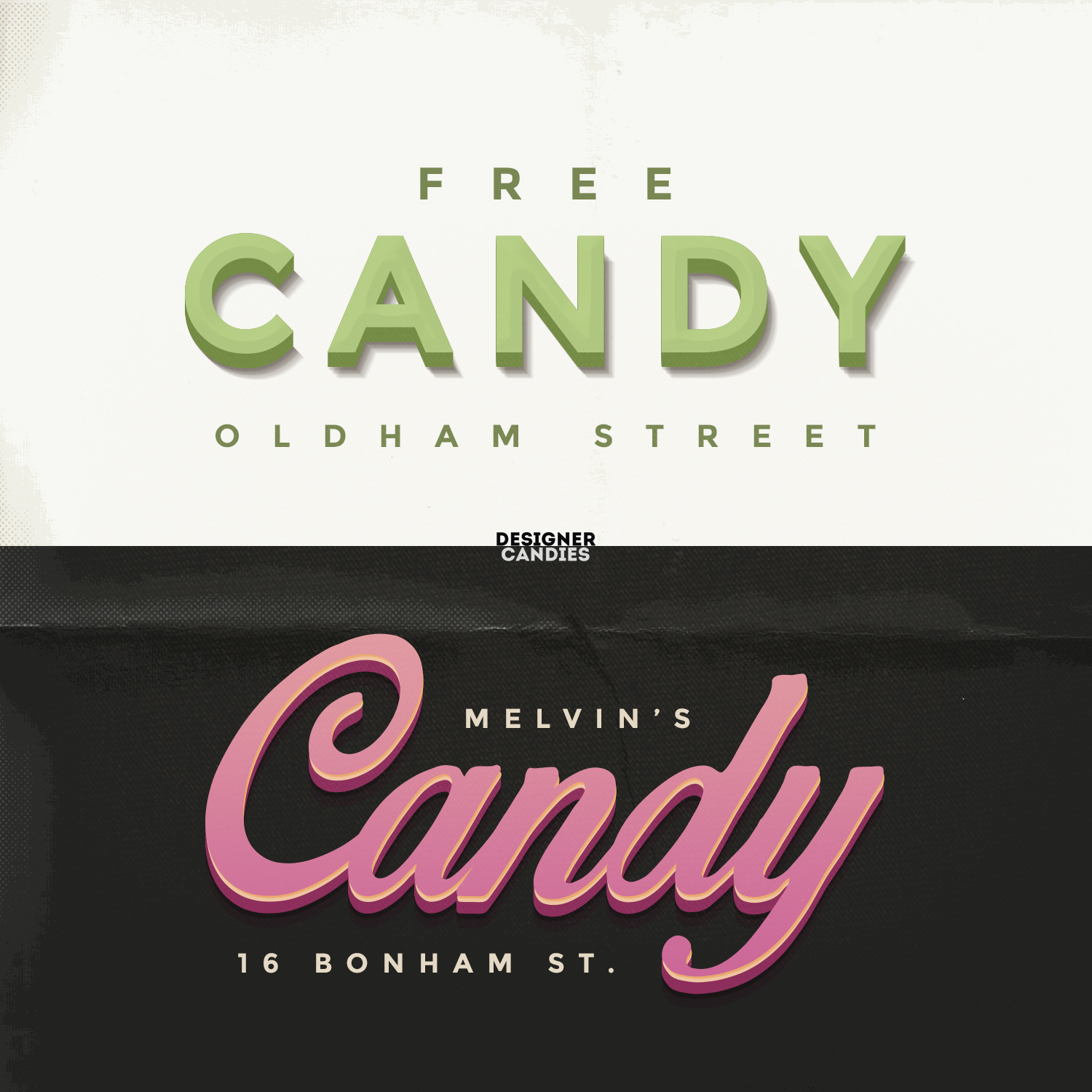 Free 3D Text PSD candy