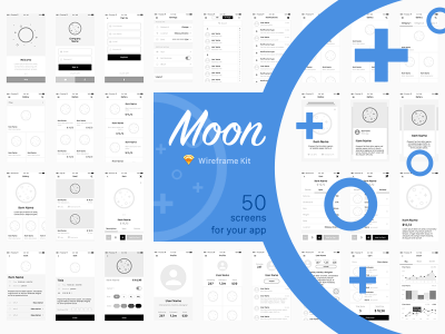 Moon Wireframe Kit