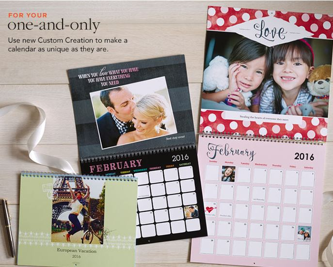 FREE 12-Month Personalized Calendar from Shutterfly! (Just Pay $599
