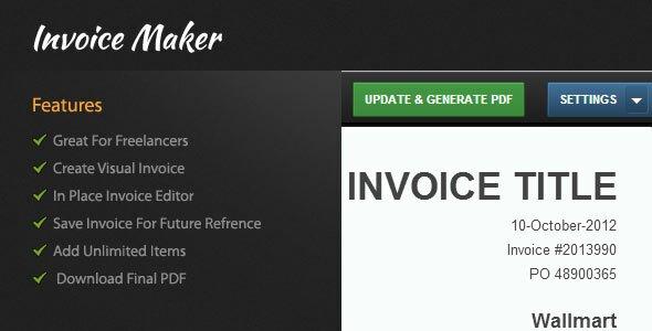 10 Best PHP Invoice Makers \u2013 Design Freebies - pdf invoice maker