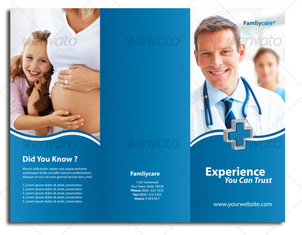 medical tri fold brochure templates for free - Ecza.solinf.co