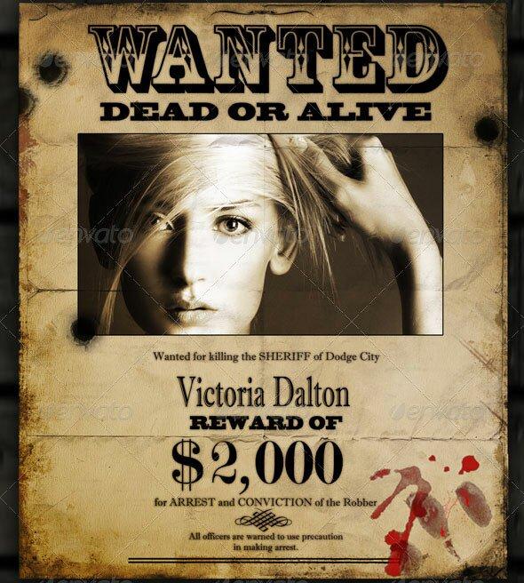 Free Wanted Poster Maker  Free Wanted Poster Maker