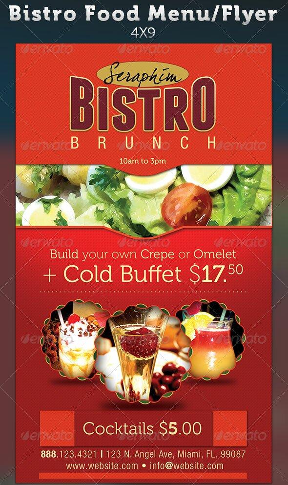 restaurant menu flyer templates - sample restaurant brochure