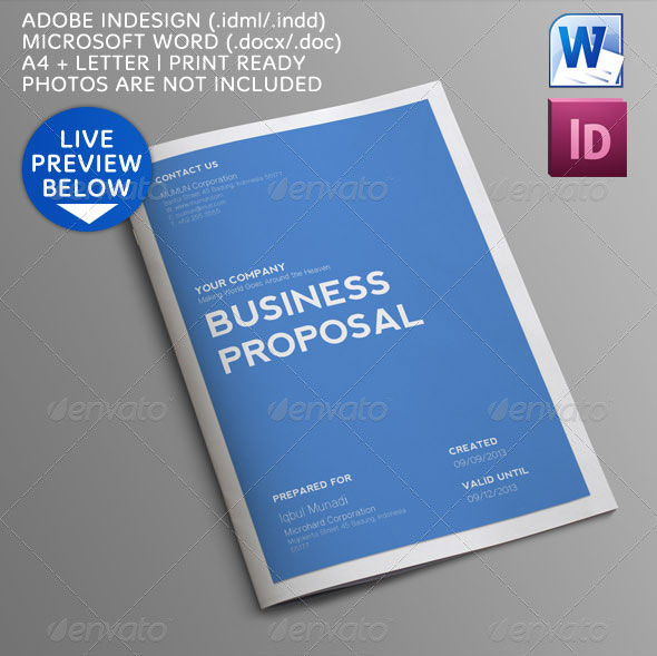 Best Proposal Template Sample Business Proposal Proposal Sample - microsoft business proposal template