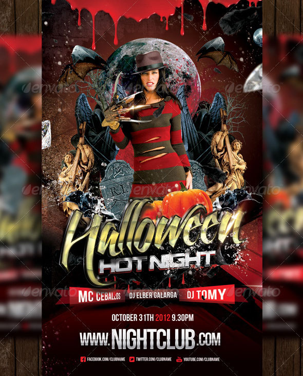 34 Beautiful Halloween Flyer PSD Templates \u2013 Design Freebies