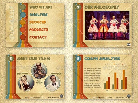 31 Vintage PowerPoint Templates \u2013 Design Freebies