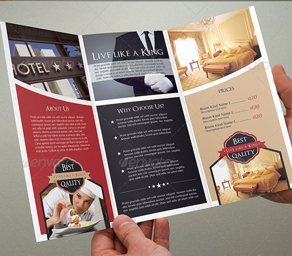 Hotel Brochure Template Photos Graphics Fonts Themes Templates