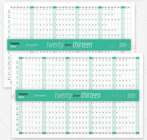 2013 Wall Calendar Template Indesign | Letter Format Uk Address