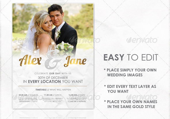 wedding flyers templates free - wedding brochure template